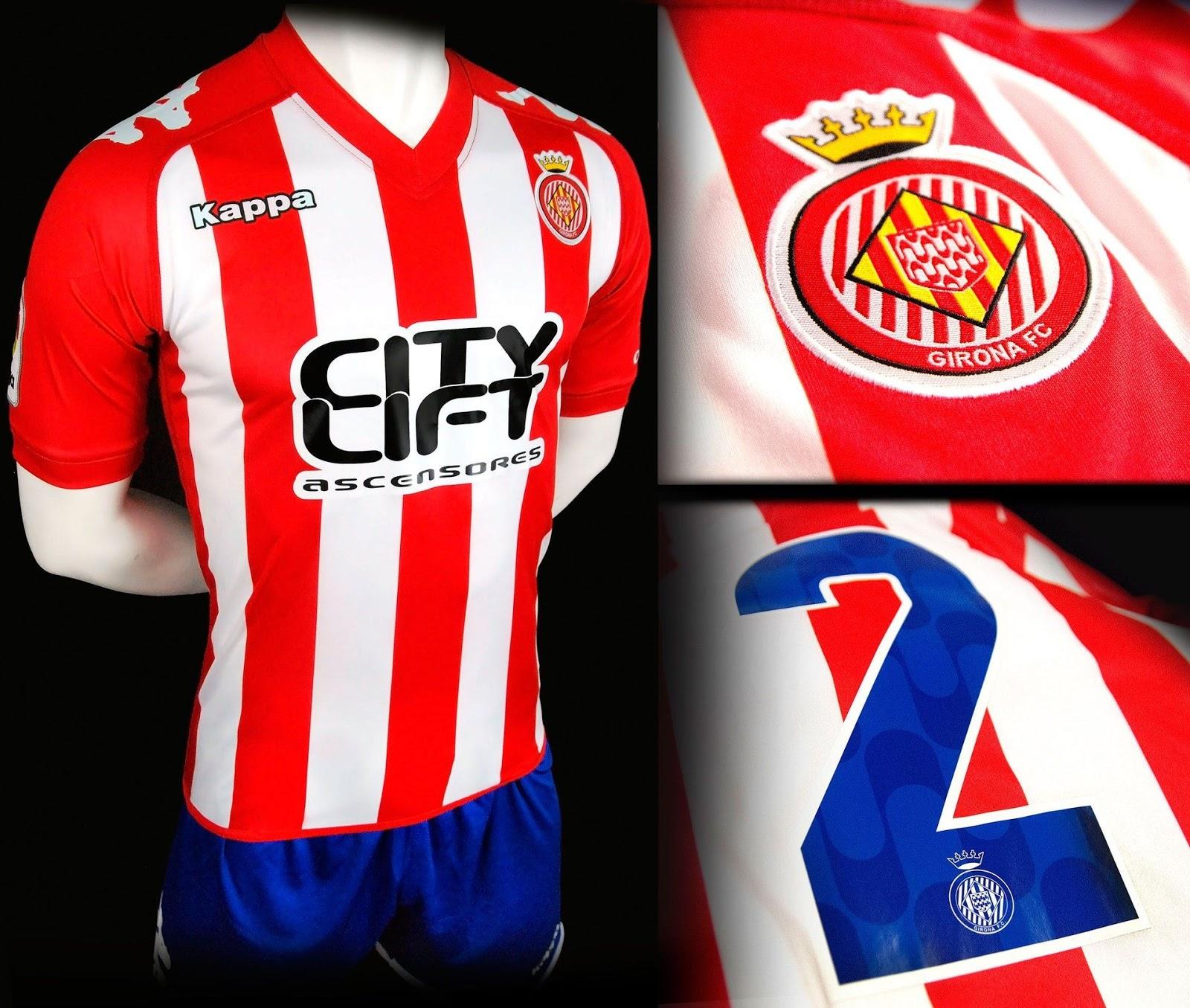 A Kappa apresentou os uniformes que o Girona Futbol Club usará na temporada  2016 17 da Segunda Divisão do Campeonato Espanhol de futebol. a7927ed9d76a5