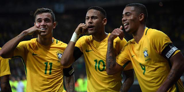 Brasil Kudeta Argentina di Puncak Ranking FIFA