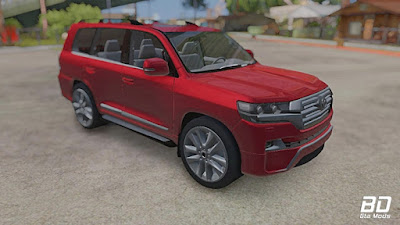 Toyota Land Cruiser 200 para GTA San Andreas Android frente