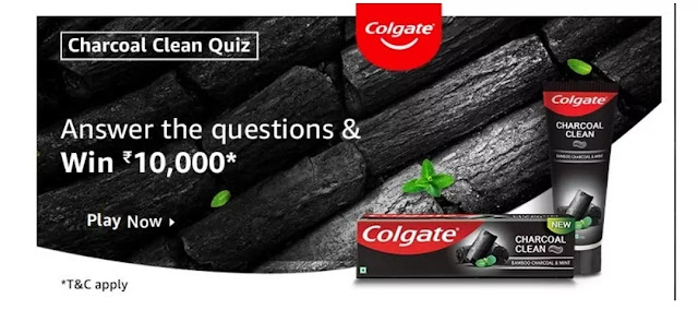 What is the color of Colgate Charcoal Clean Toothpaste?