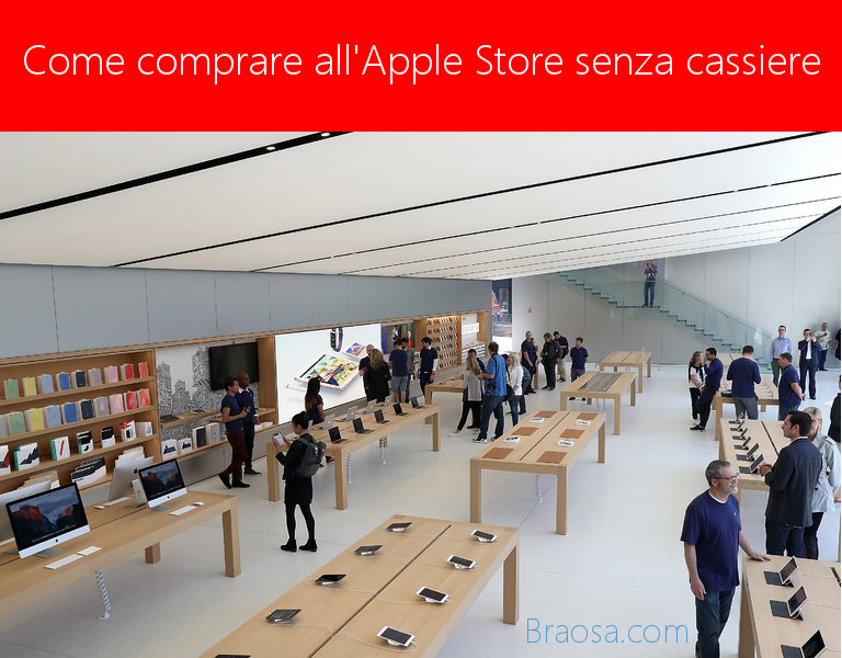 Come acquistare all'Apple Store accessori e piccoli oggetti con il nostro iPhone senza passare dalla cassa.