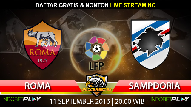 Prediksi Roma vs Sampdoria 11 September 2016 (Liga Italia)