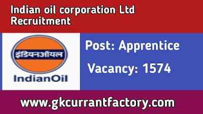 IOCL Apprentice Recruitment, IOCL recruitment 2019
