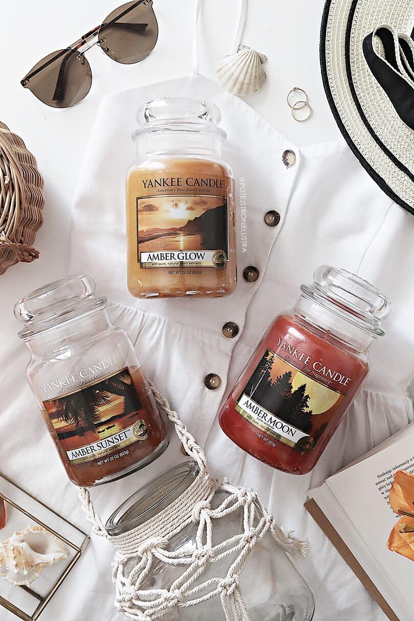 świece yankee candle o zapachu bursztynu
