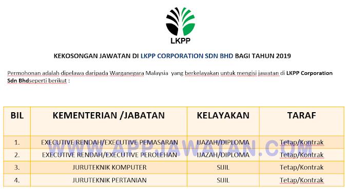 Jawatan Kosong Terkini di LKPP Corporation Sdn Bhd.