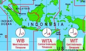 Pembagian Waktu di Indonesia Beserta Daerahnya (WIB, WITA, WIT)