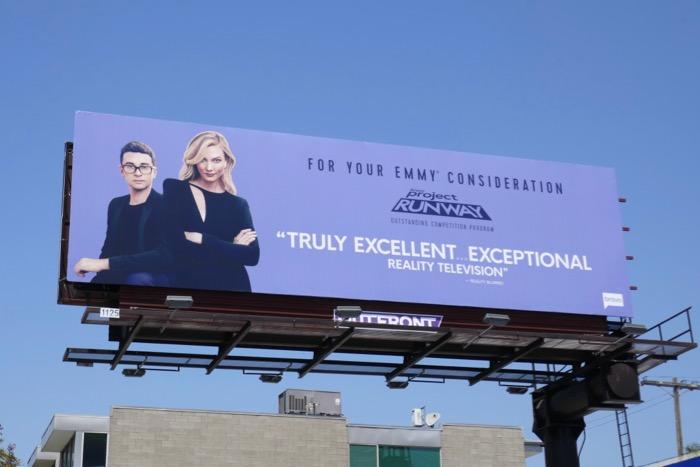 Project Runway Bravo 2019 Emmy FYC billboard