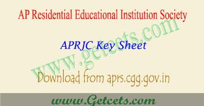APRJC Key 2019-2020 Question paper download aprjc result date