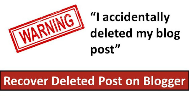 How to Recover Accidentally Deleted Blog Posts