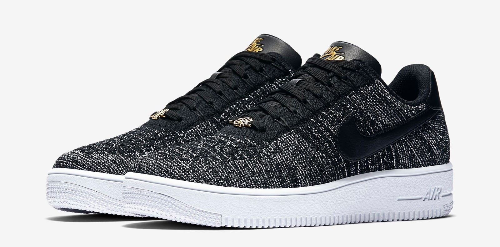nike air force 1 black flyknit jordan