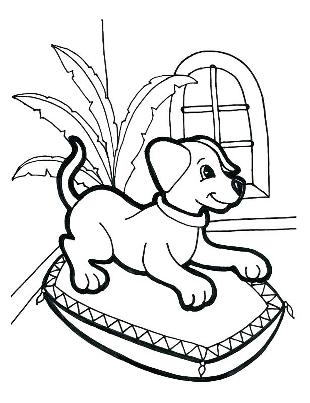 Dogs coloring pages 71