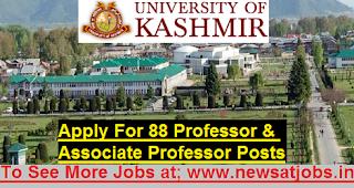 kashmir-university-88-Professor-Posts-vacancies