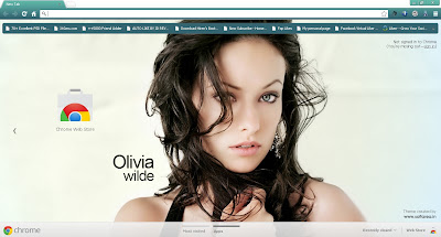 Olivia Wilde Google Chrome Theme