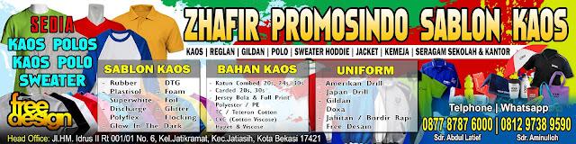 Konveksi murah & berkualitas memproduksi berbagai macam model pakaian seperti : baju, kaos promosi, kaos team, kaos muslim, jaket, seragam kantor/kerja, topi, dll.