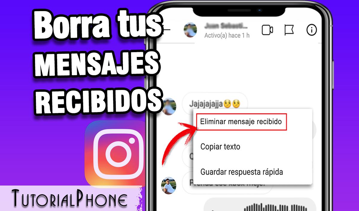 borrar mensajes recibidos en instagram