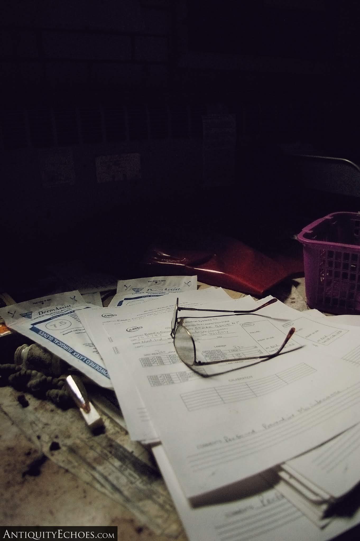 Overbrook Asylum - Reading Glasses Left Behind on Paperwork