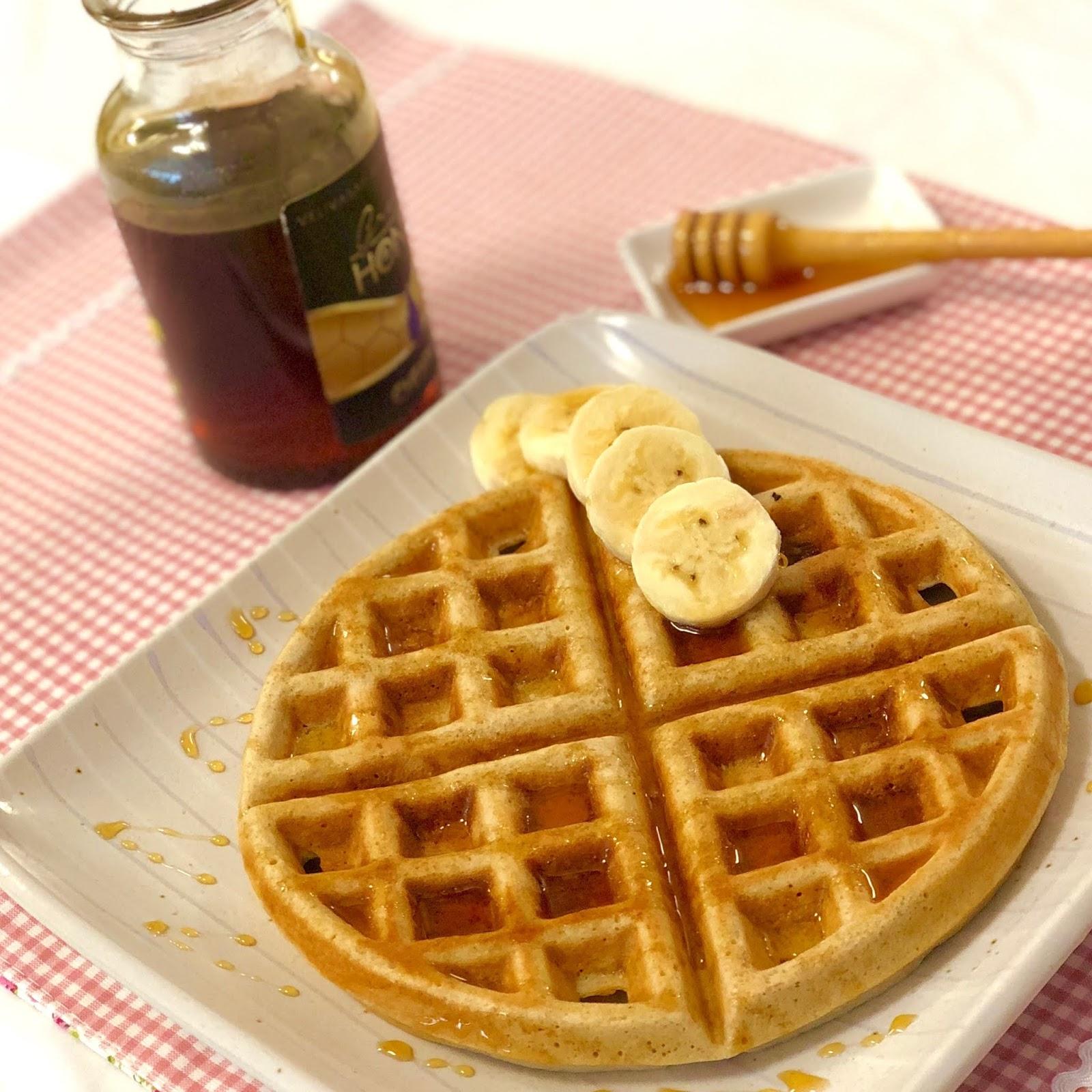 Waffle doce com fibras