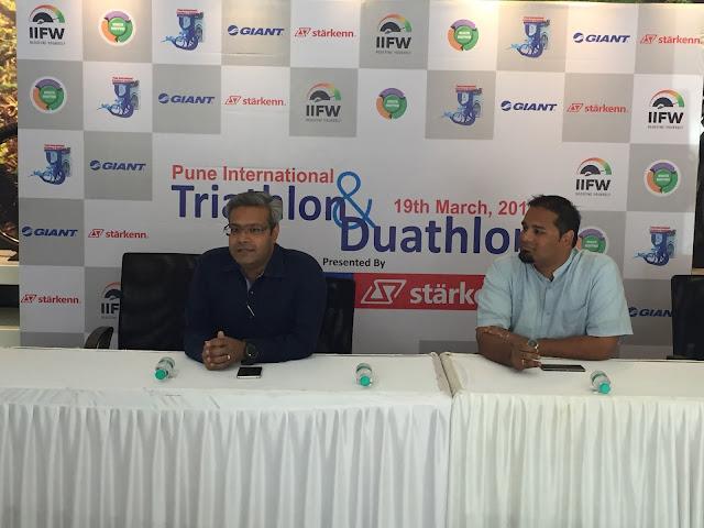 Mr. Pravin Patil, MD & CEO, Starkenn Sports Pvt. Ltd addressing the media