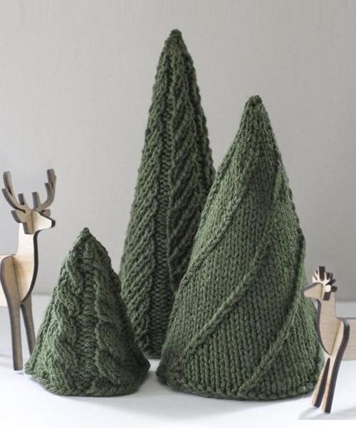 Cozy Trees - Free Knitting Patterns