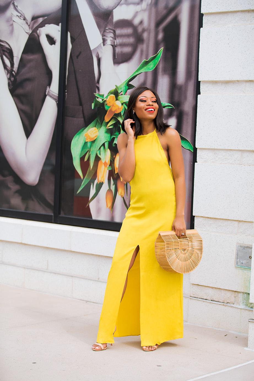 summer maxi dress, yellow dress, cult gaia bag, www.jadore-fashion.com