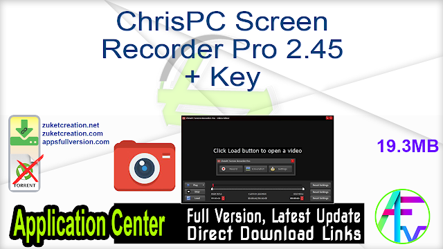 ChrisPC Screen Recorder Pro 2.45 + Key