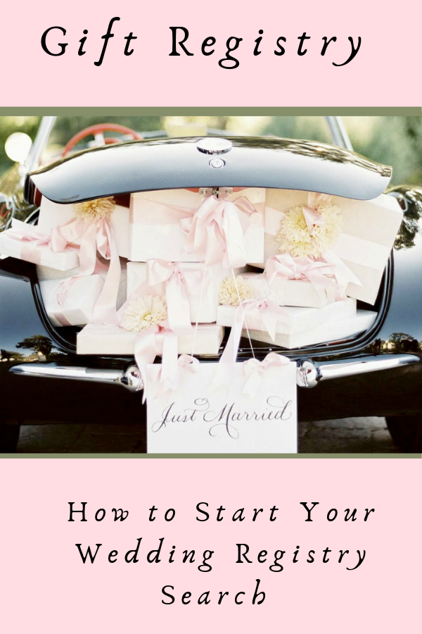 How to Start Your Wedding Registry Search