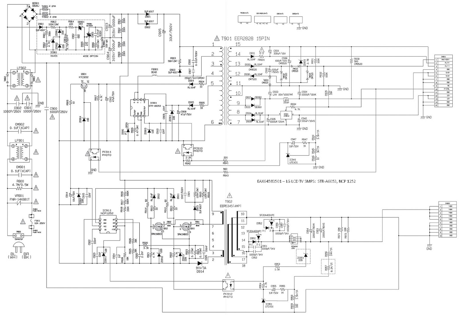 eax64583501 lg lcd tv smps schematic schematic diagrams lg led tv smps circuit diagram lg led [ 1600 x 1098 Pixel ]