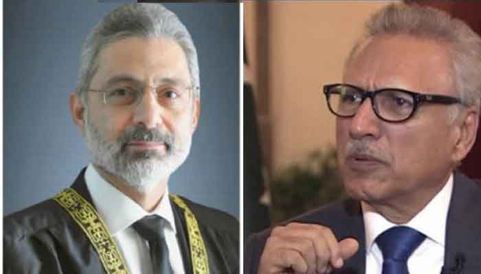 Interesting Development By Arif Alvi Proceeding Reference For Qazi Faez Isa and Karim Khan Agha
