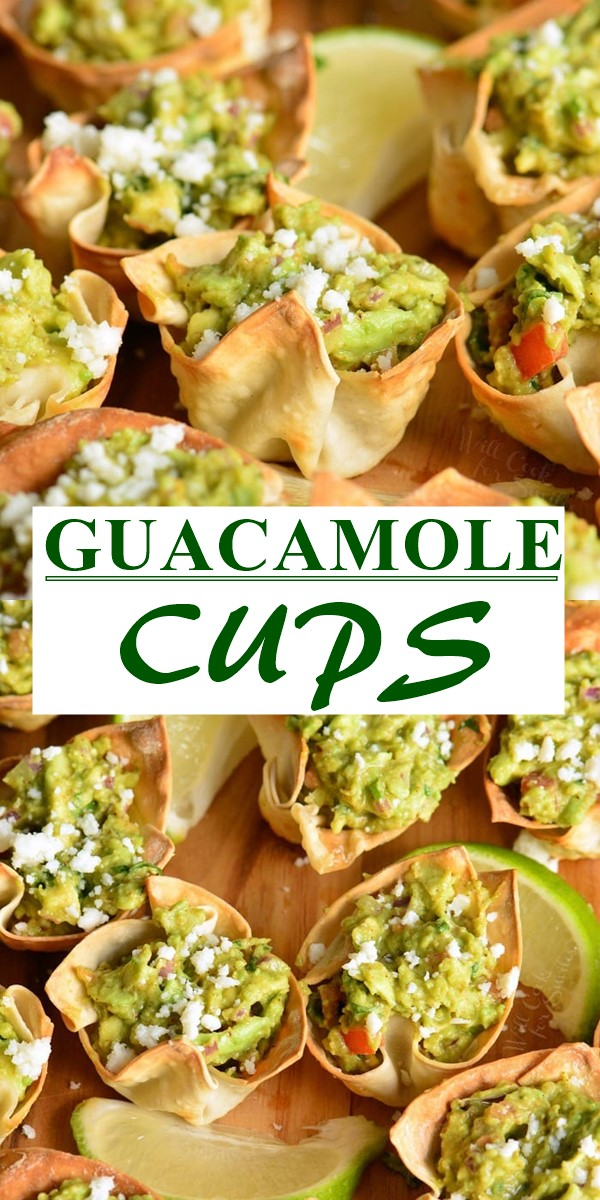 GUACAMOLE CUPS #appetizerrecipes