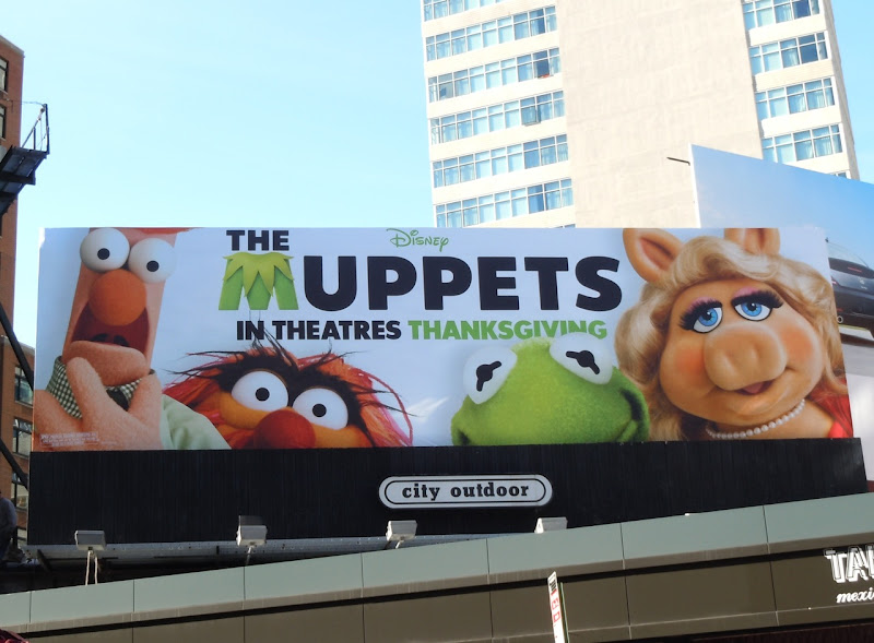 The Muppets billboard NYC