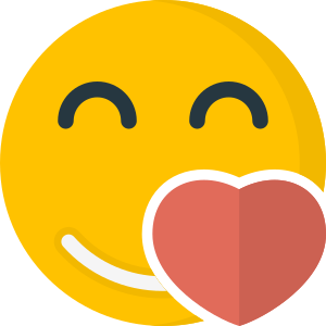 Unha figura de cara sorrindo e corazón que representan felicidade e benestar