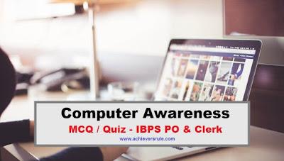 Computer Awareness Quiz for Bank Exams