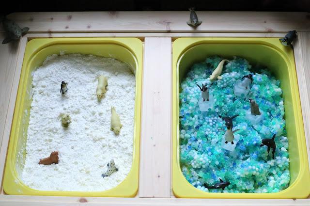 Arctic Sensory Bin - Indoor Winter Sensory Play