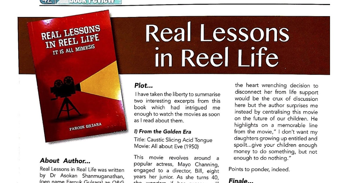 Real Lessons In Reel Life Reviewed