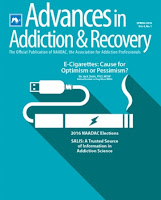 cover of Avances in Addiction and Recovery Magazine spring 2016
