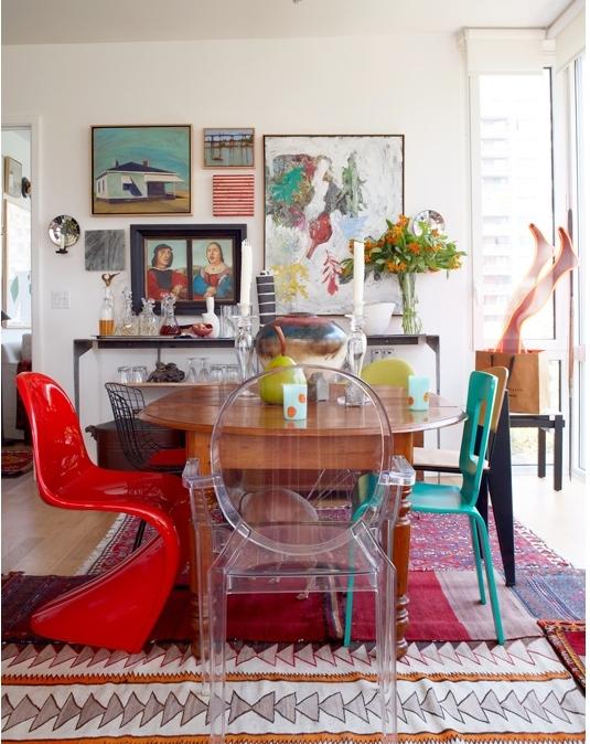 Arte e decora o decora o mesa de jantar com cadeiras diferentes - Sedie da abbinare a tavolo fratino ...