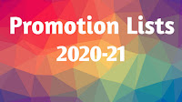 Promotion Lists 2020-21 Primary , UP and High School Promotion Lists. and Promotion Lists Execell Softwares