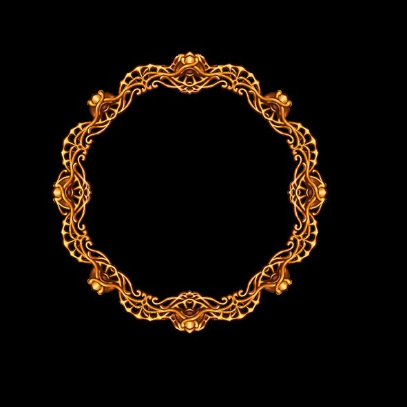 Gold-colored border, frame, Gold frame, texture, frame png free png