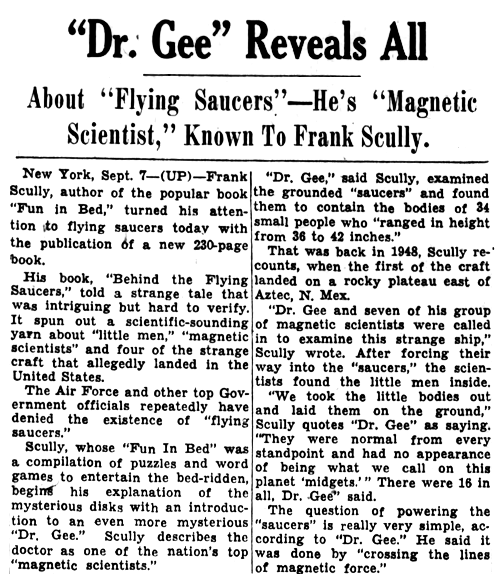 Dr. Gee Reveals All - The Cincinnati Enquirer 9-8-1950