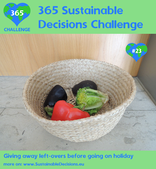 Giving away left-overs before going on holiday reducing food waste reducing waste