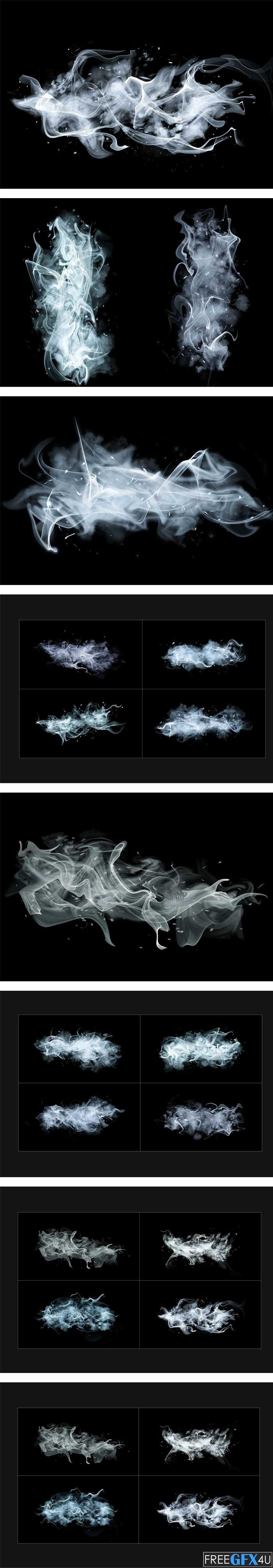 White Smoke Transparent PNG & PSD
