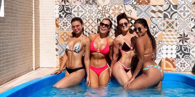 Tainá Grando e bailarinas já estão em Salvador para o carnaval