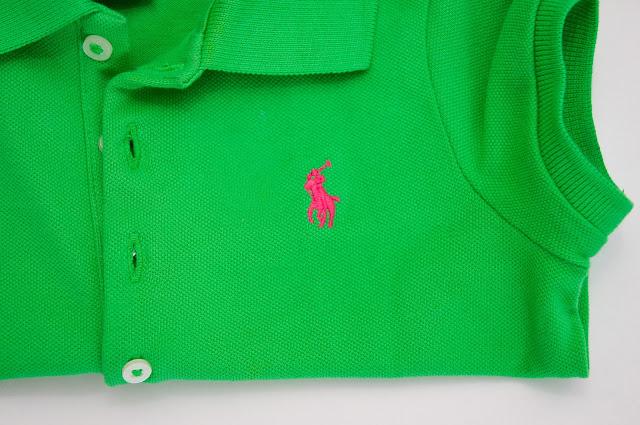 logo i obszycie polo Ralph Lauren