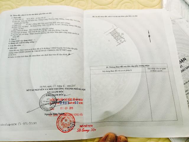 Sổ đỏ tách riêng từng lô nhà thổ cư giá rẻ Phường Đức Thắng, Bắc Từ Liêm, HN