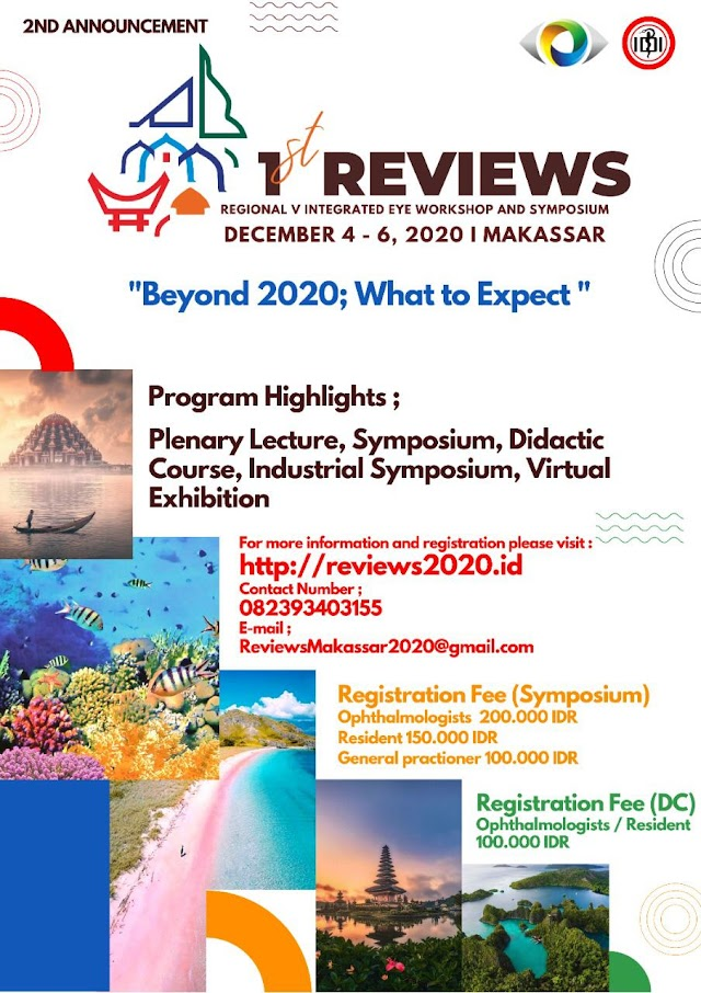 1st REVIEW (Regional V Integrated Eye Workshop and Symposium)