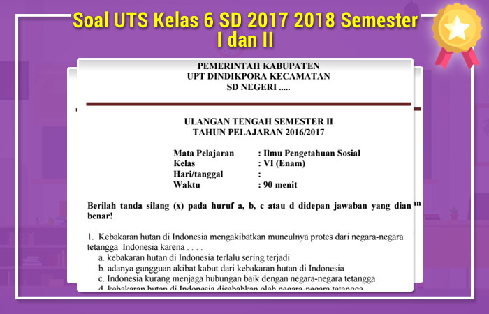 Soal UTS Kelas 6 SD