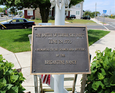 Turtle Gut Inlet Historical Marker in Wildwood Crest, New Jersey