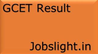 GCET Result 2017