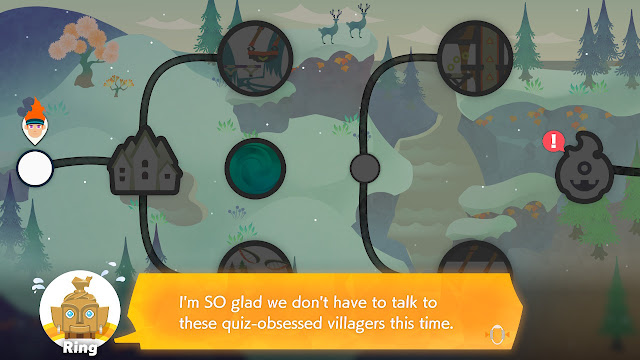 Ring Fit Adventure Extra Fitness Lv. 238 quiz-obsessed villagers Quizton
