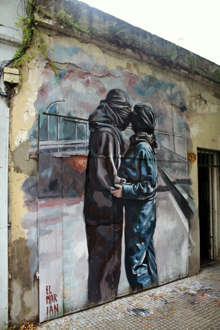 El Marian New Mural In Villa Pueyrredon - Buenos Aires ...